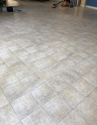 clean tile after